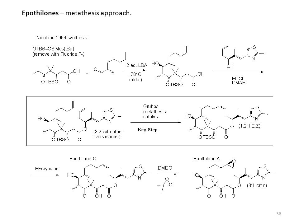 Epothilones – metathesis approach.