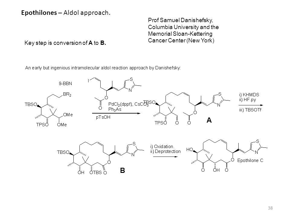 Epothilones – Aldol approach.