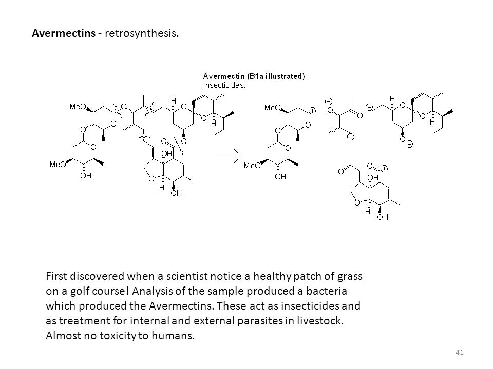 Avermectins - retrosynthesis.