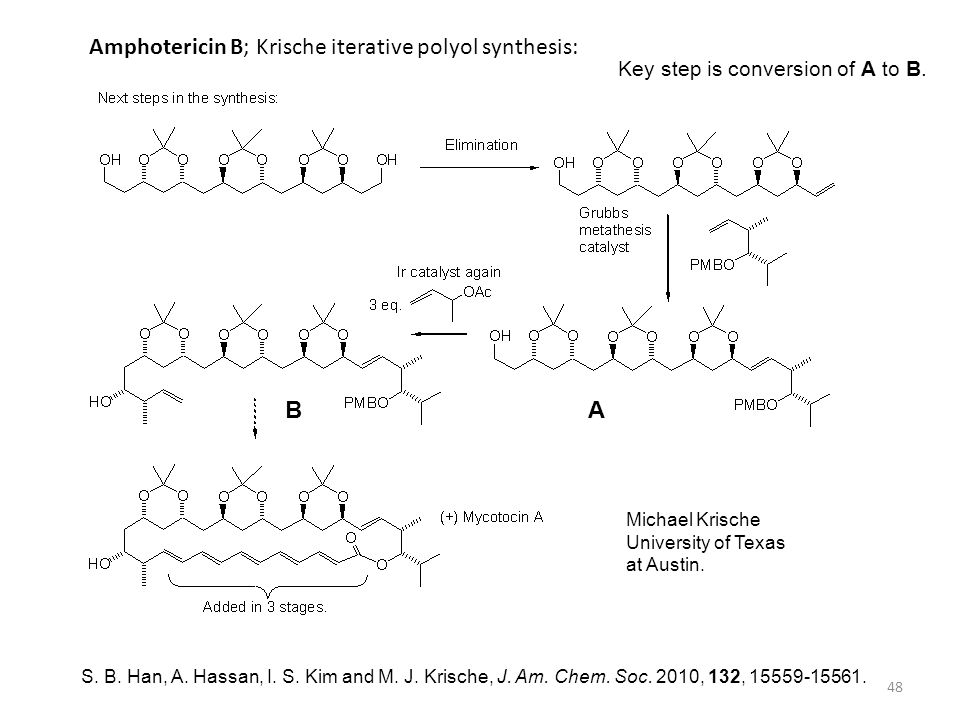 Amphotericin B; Krische iterative polyol synthesis: