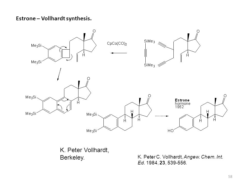 Estrone – Vollhardt synthesis.