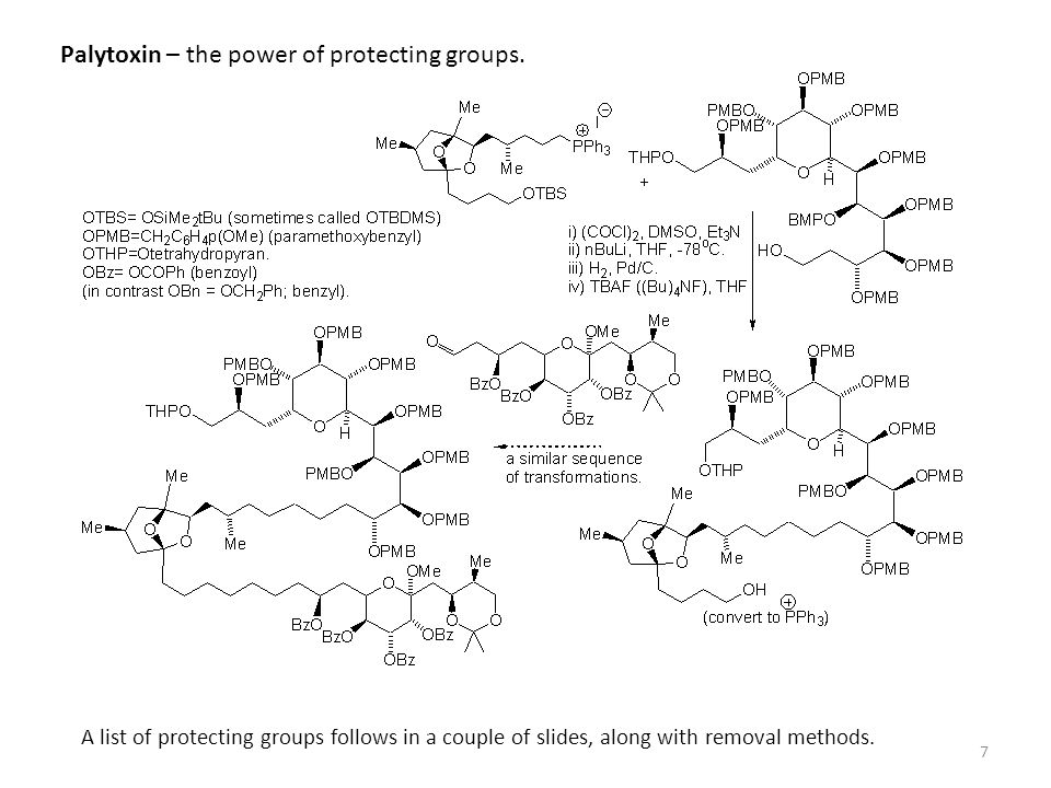 Palytoxin – the power of protecting groups.