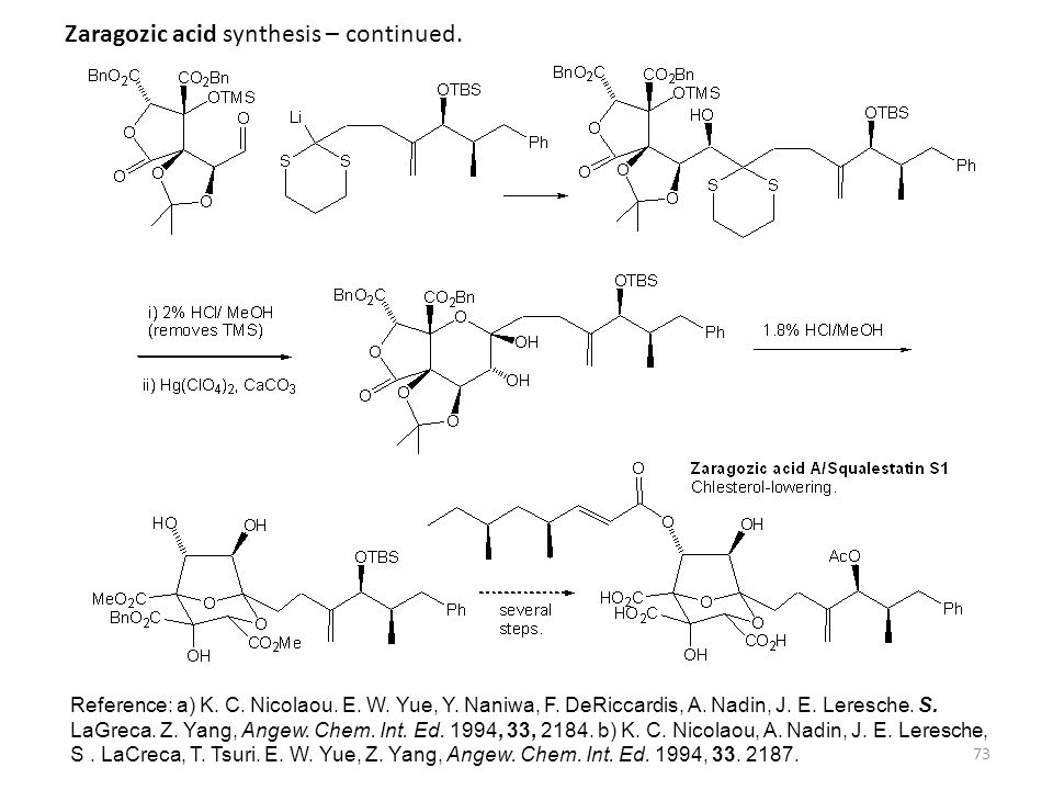 Zaragozic acid synthesis – continued.