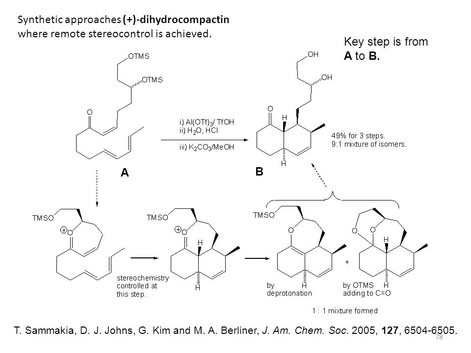 Synthetic approaches (+)-dihydrocompactin