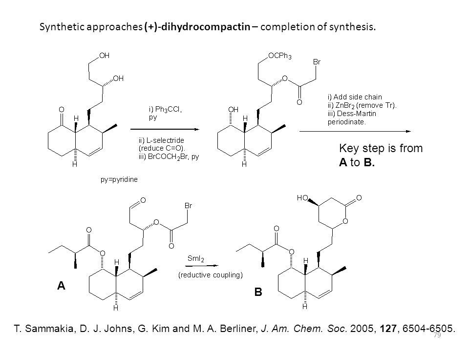 Synthetic approaches (+)-dihydrocompactin – completion of synthesis.