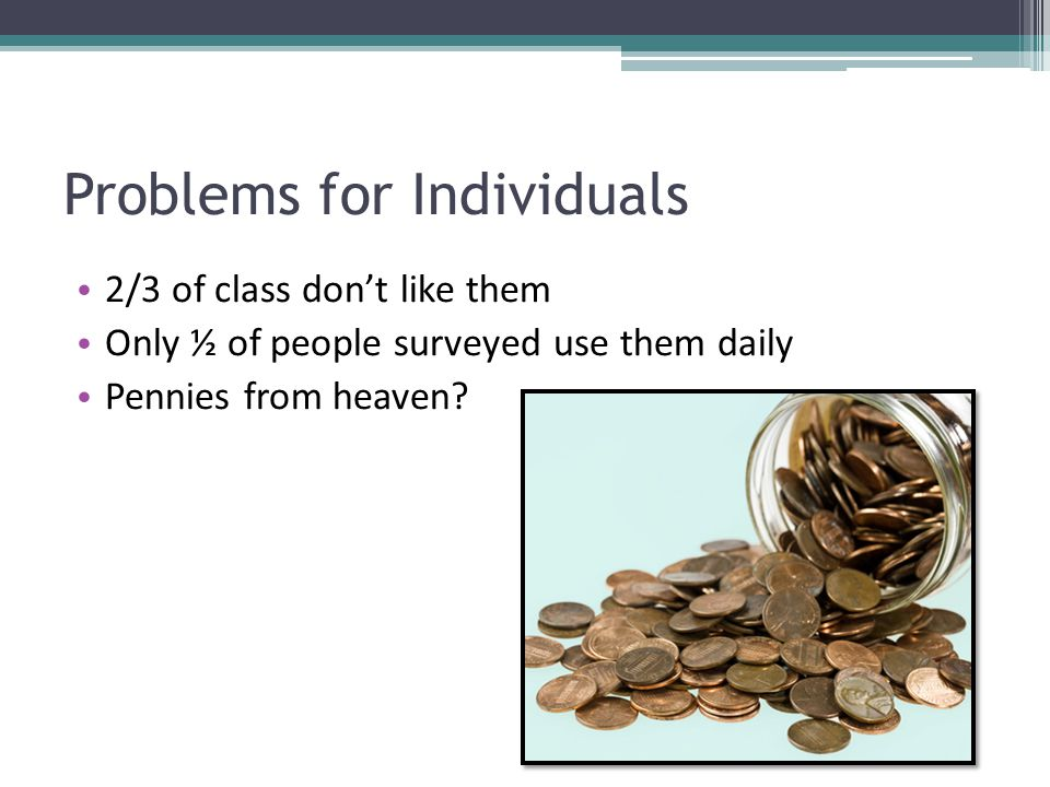 Problems for Individuals