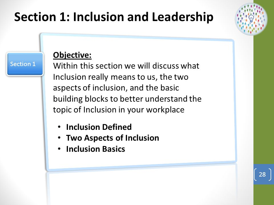 Section 1: Inclusion and Leadership
