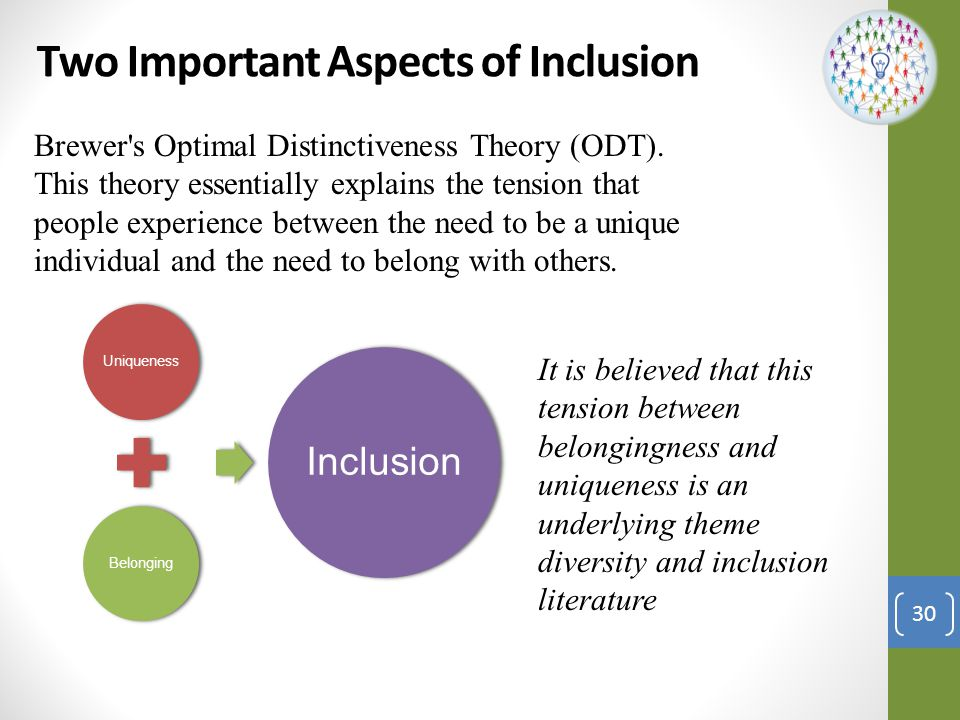 Two Important Aspects of Inclusion