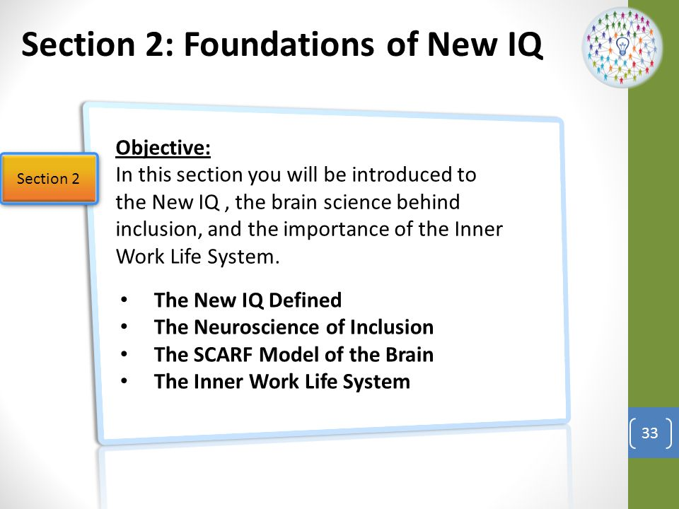 Section 2: Foundations of New IQ