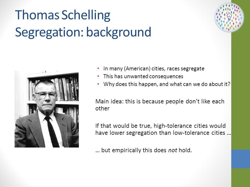 Thomas Schelling Segregation: background