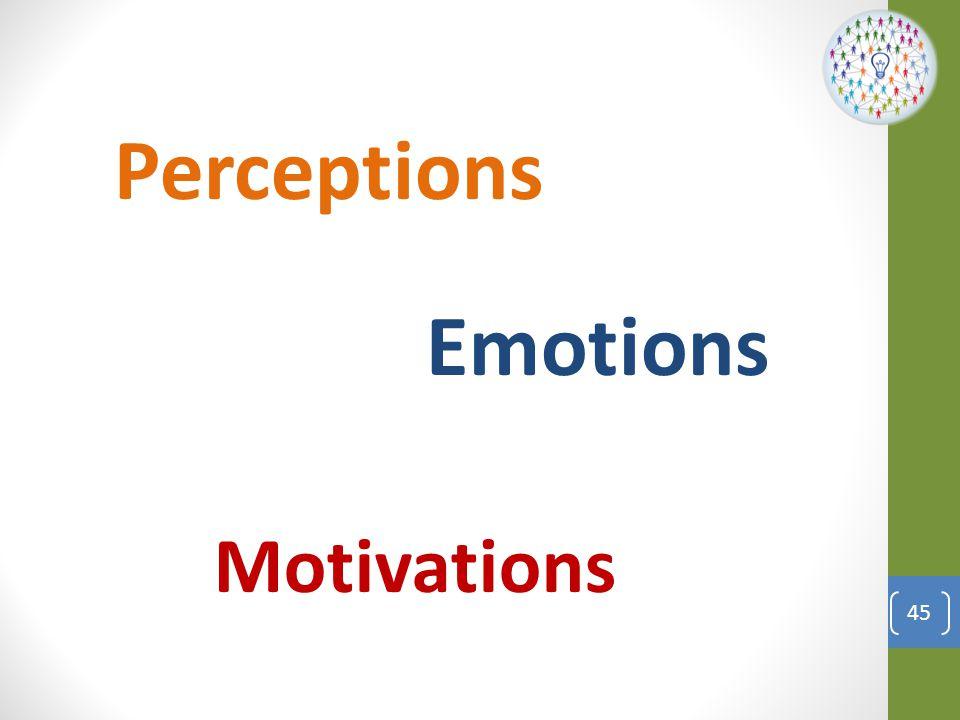 Perceptions Emotions Motivations