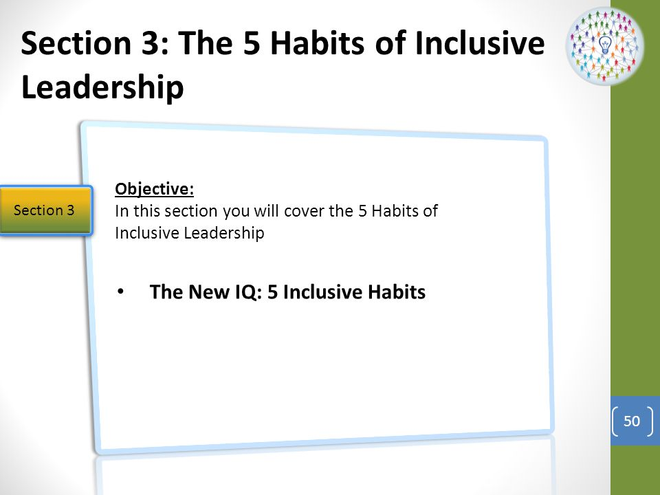 Section 3: The 5 Habits of Inclusive Leadership