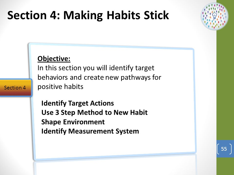 Section 4: Making Habits Stick