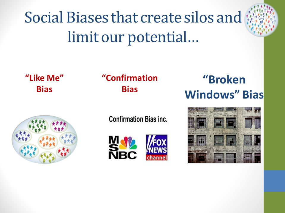 Social Biases that create silos and limit our potential…