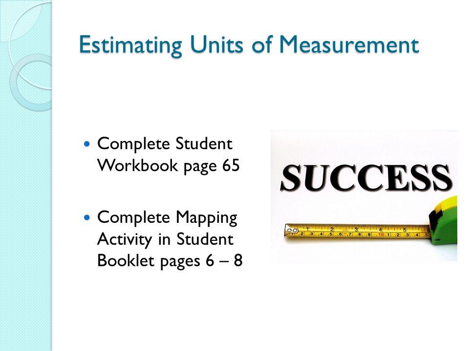 Estimating Units of Measurement