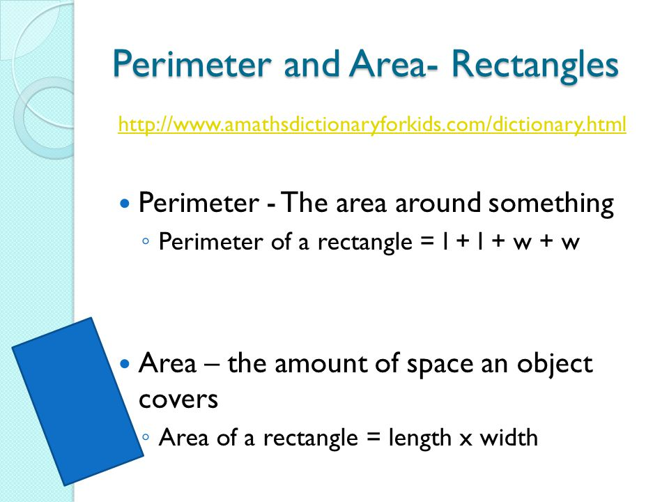 Perimeter and Area- Rectangles