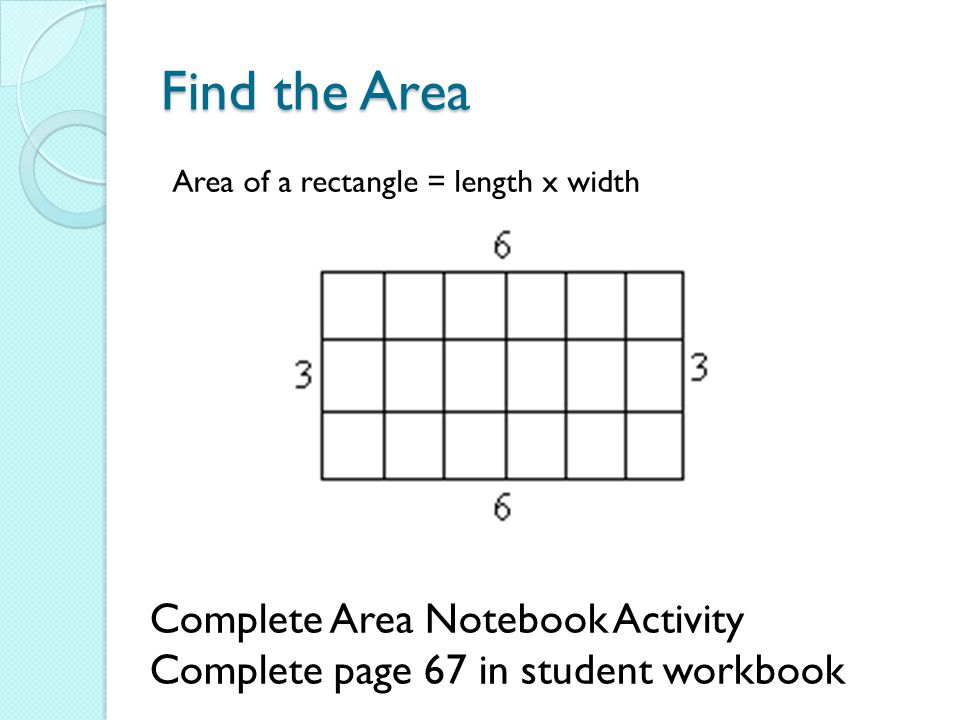 Find the Area Complete Area Notebook Activity