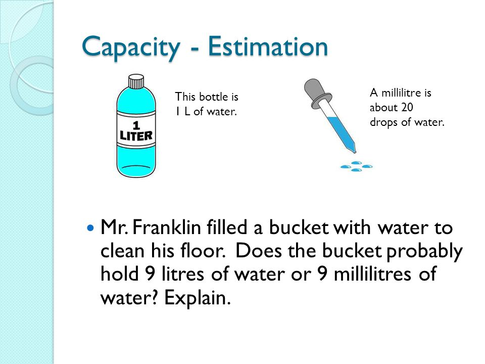 Capacity - Estimation Complete page 72 in workbook.