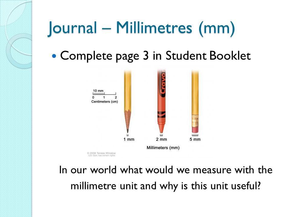 Journal – Millimetres (mm)