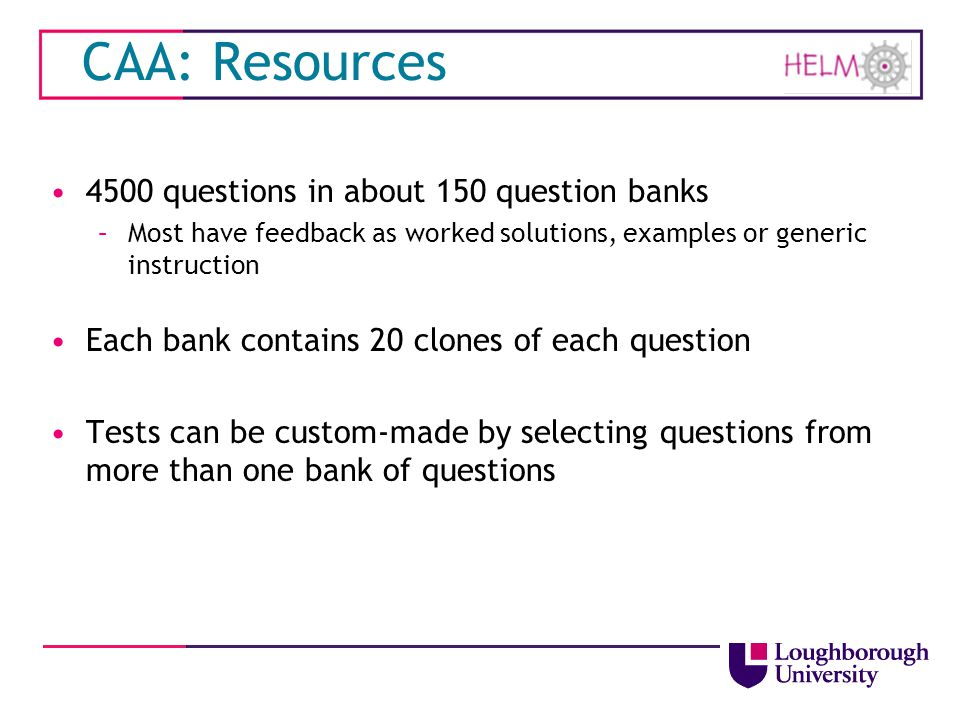 CAA: Resources 4500 questions in about 150 question banks