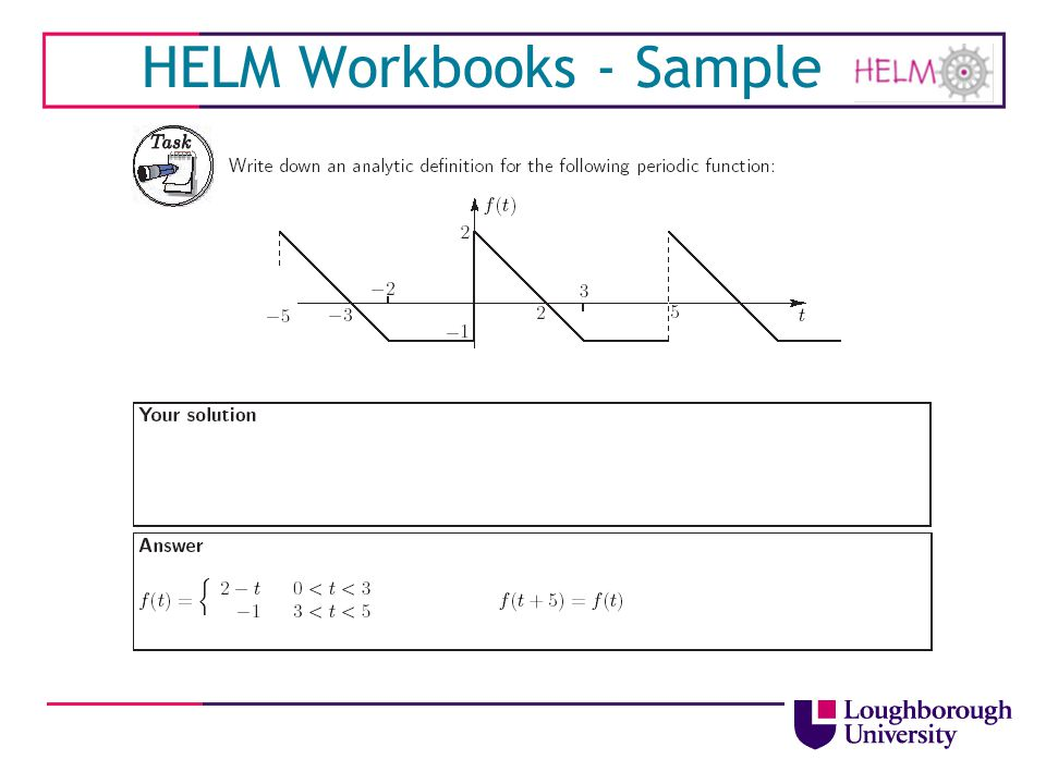 HELM Workbooks - Sample