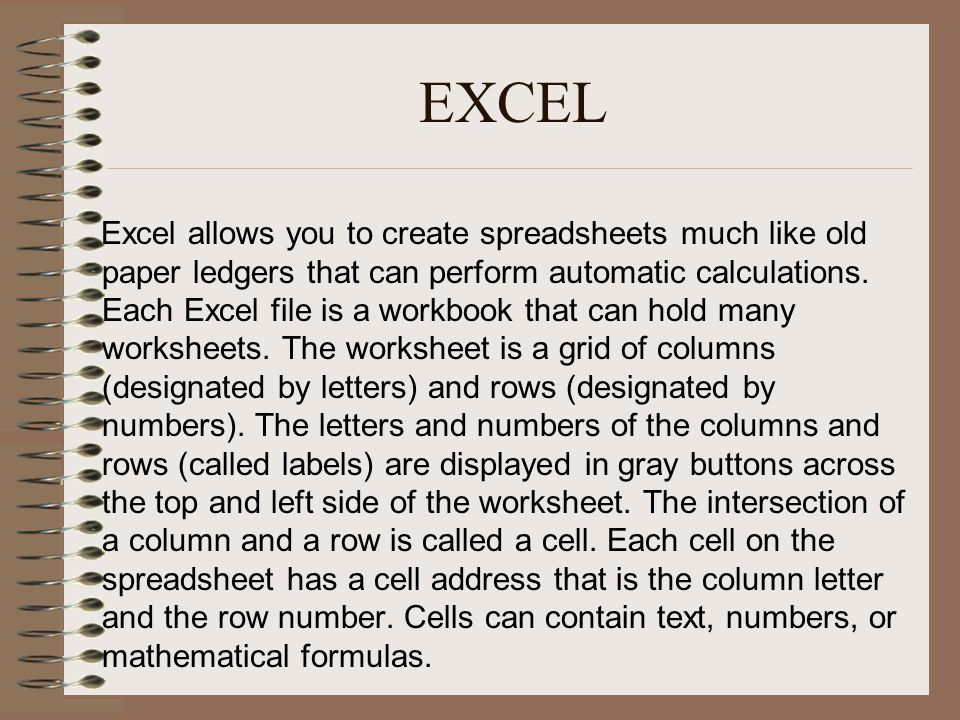 Area Of Sector Worksheet Excel Spreadsheet Basics  Ppt Video Online Download Landforms Worksheets For 3rd Grade with Percentage Worksheets Year 7 Excel Excel Stoichiometry Worksheet 2 Answer Key