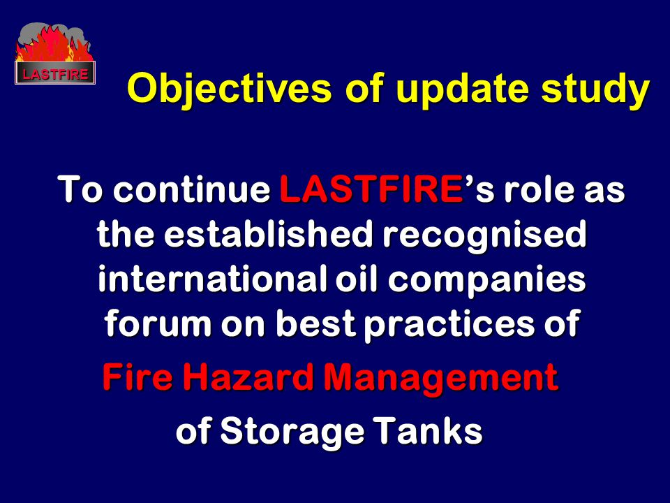 Objectives of update study