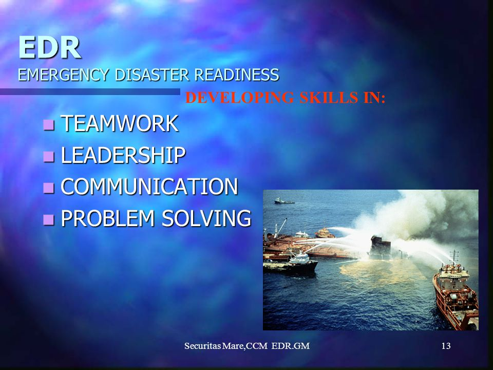EDR EMERGENCY DISASTER READINESS