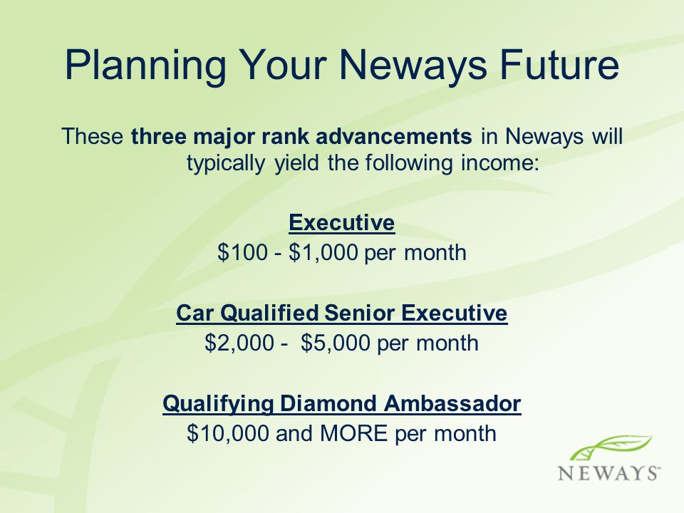 Planning Your Neways Future
