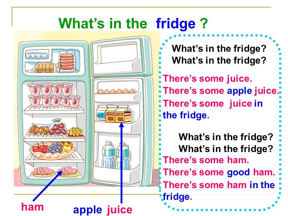 What's in the fridge ham apple juice What's in the fridge