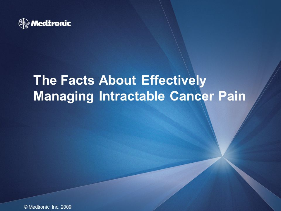 The Facts About Effectively Managing Intractable Cancer Pain