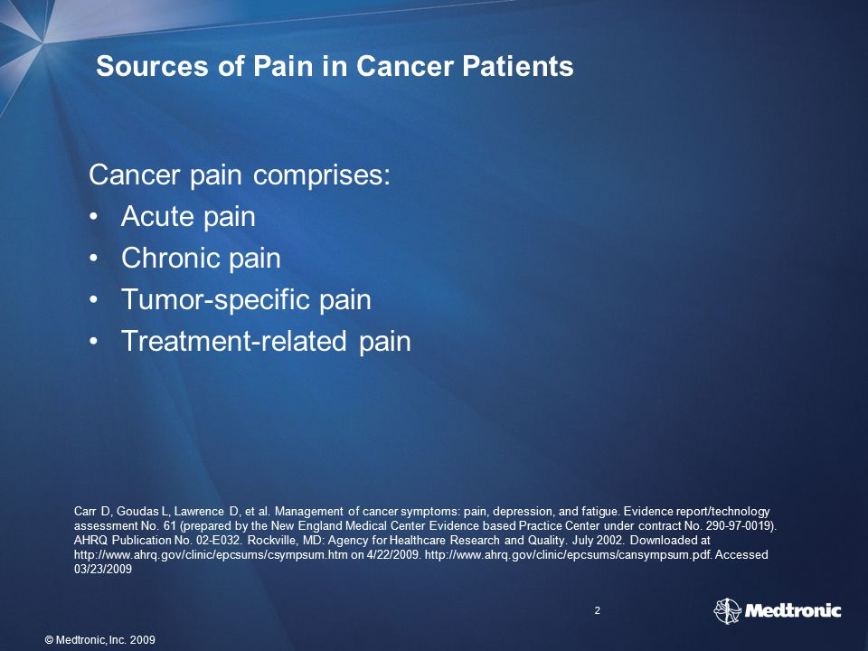 Sources of Pain in Cancer Patients