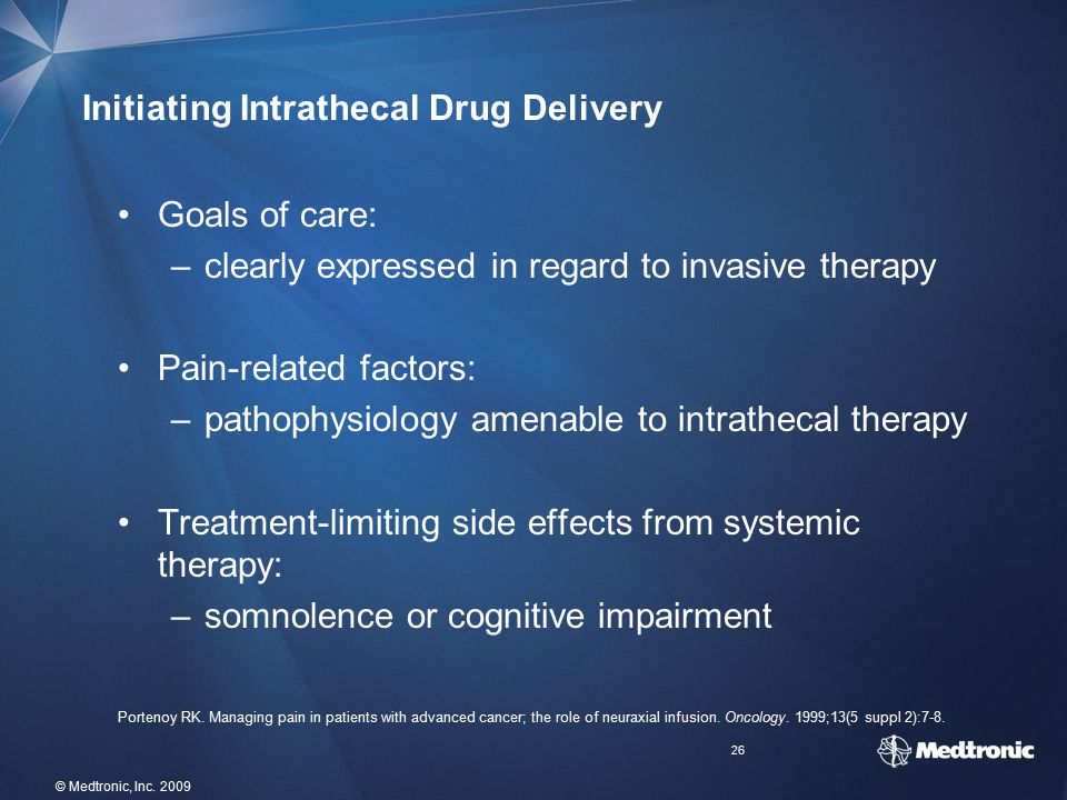 Initiating Intrathecal Drug Delivery