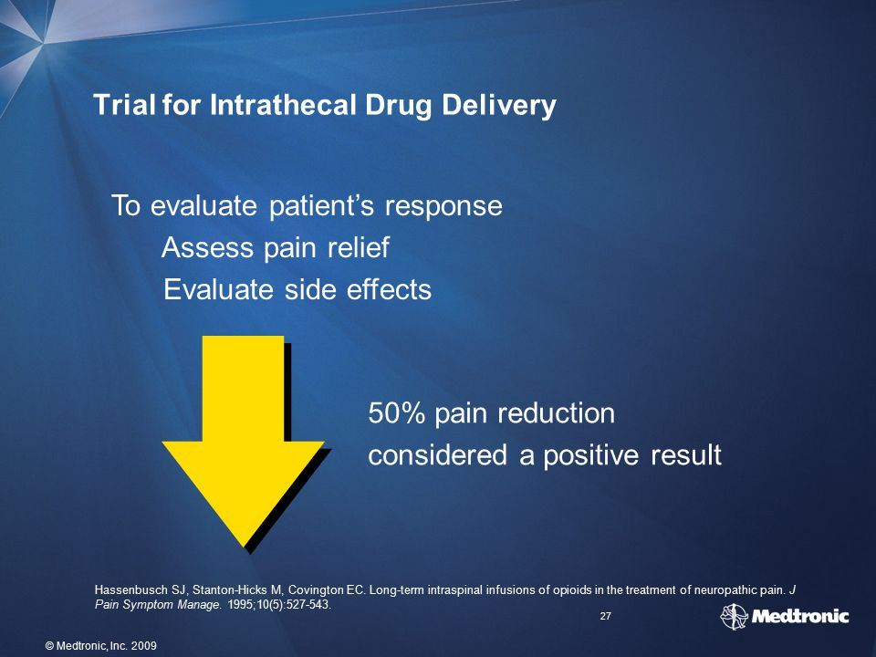 Trial for Intrathecal Drug Delivery
