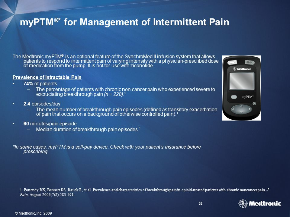 myPTM®* for Management of Intermittent Pain