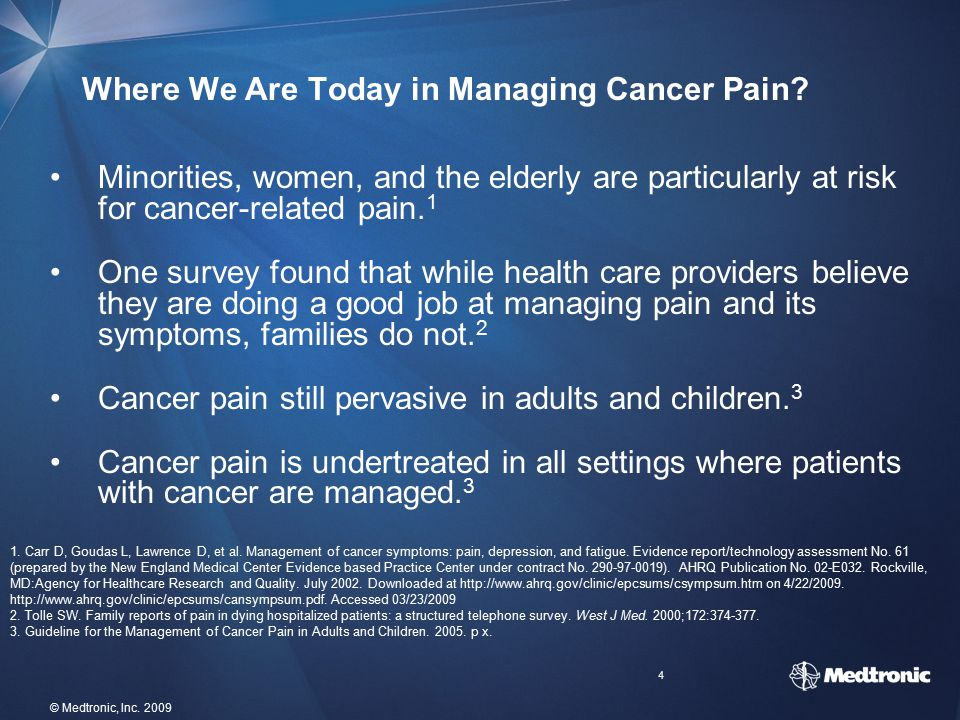 Where We Are Today in Managing Cancer Pain