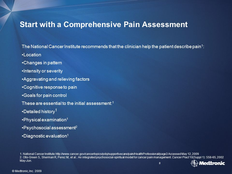 Start with a Comprehensive Pain Assessment