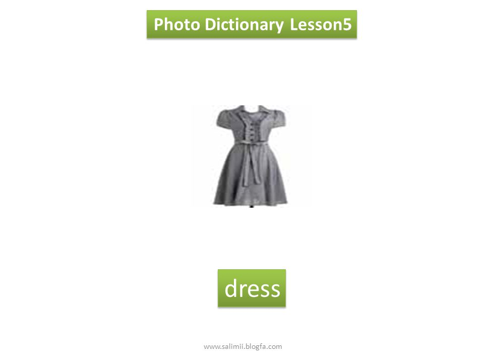 Photo Dictionary Lesson5