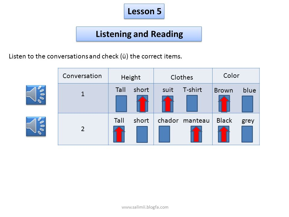 Lesson 5 Listening and Reading