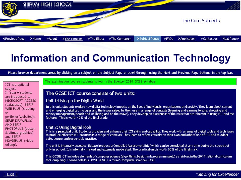 Information and communication technology final report