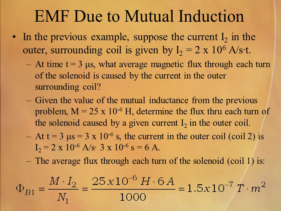 EMF Due to Mutual Induction