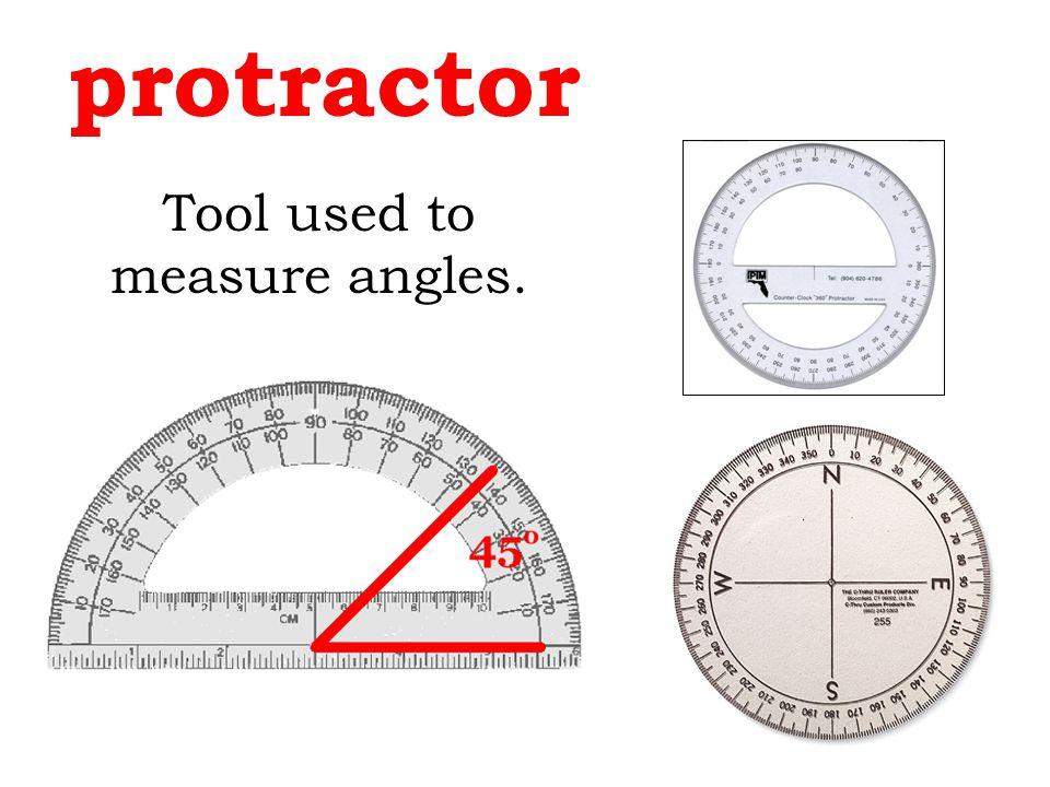 Tool used to measure angles.