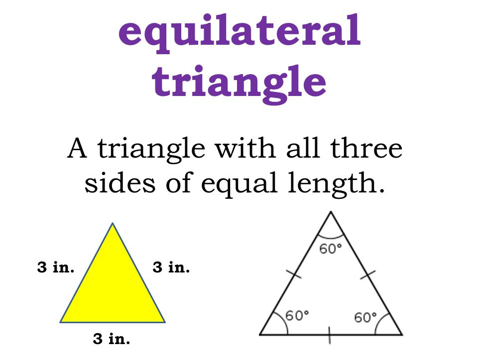 A triangle with all three