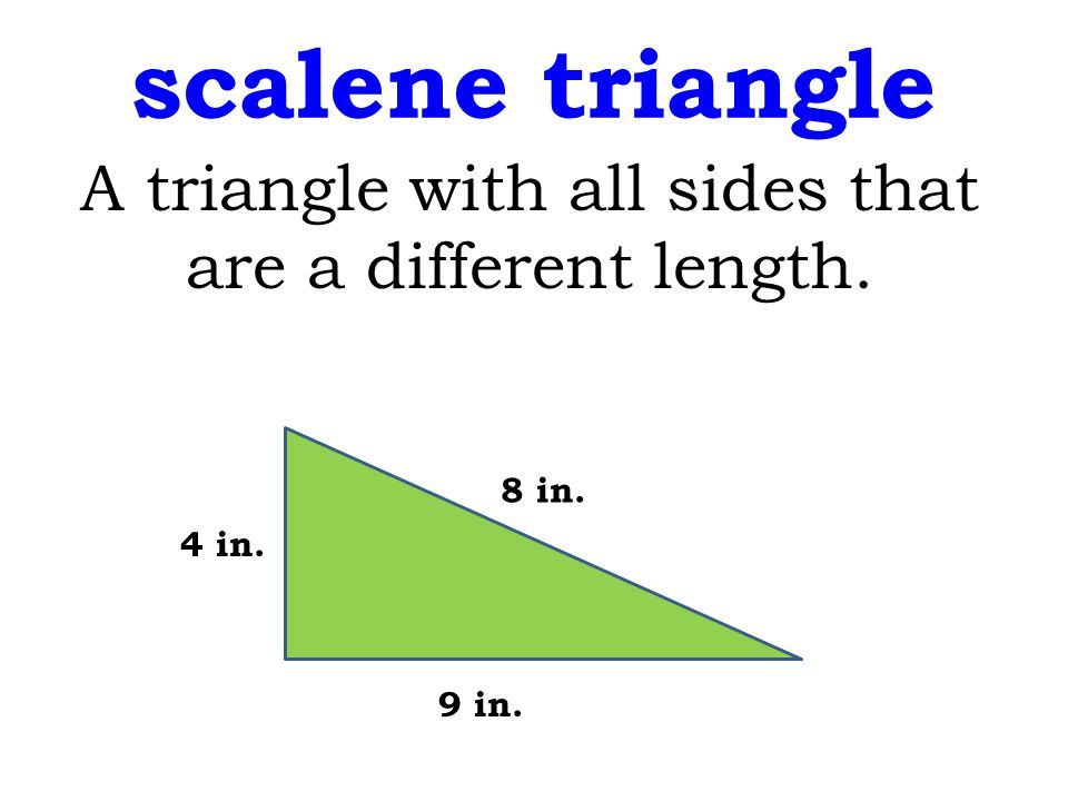 A triangle with all sides that