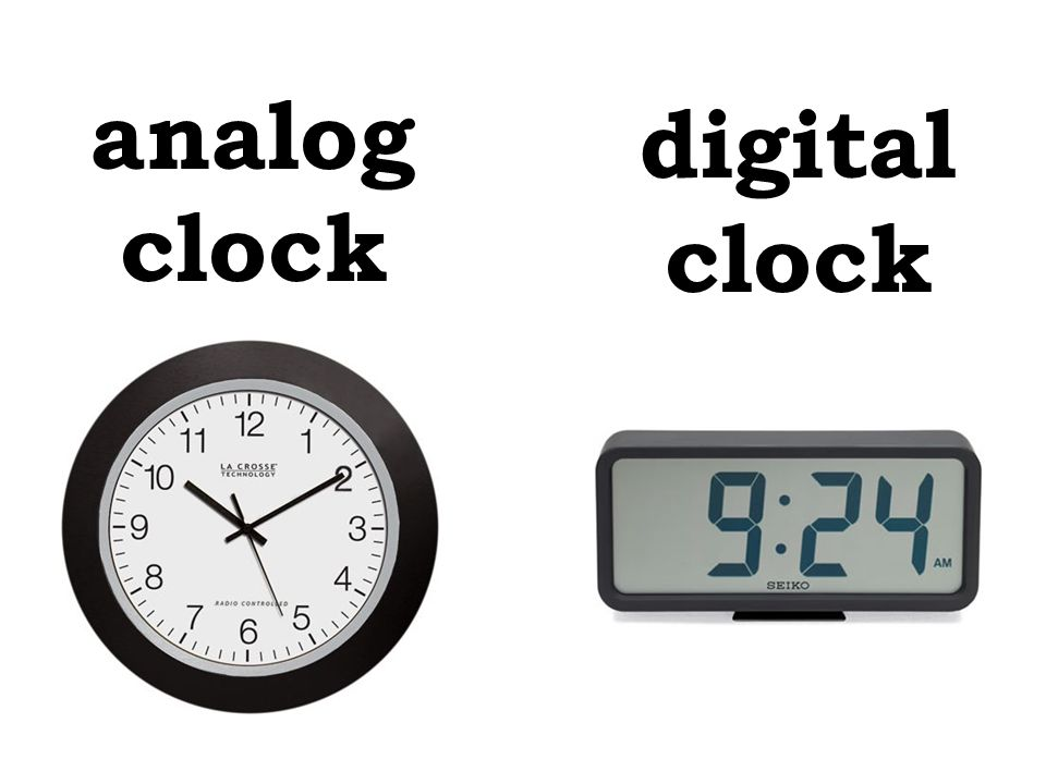 analog clock digital clock