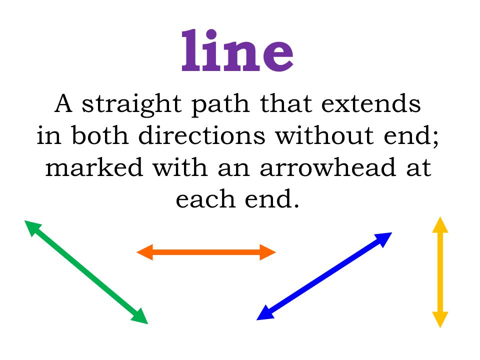 line A straight path that extends