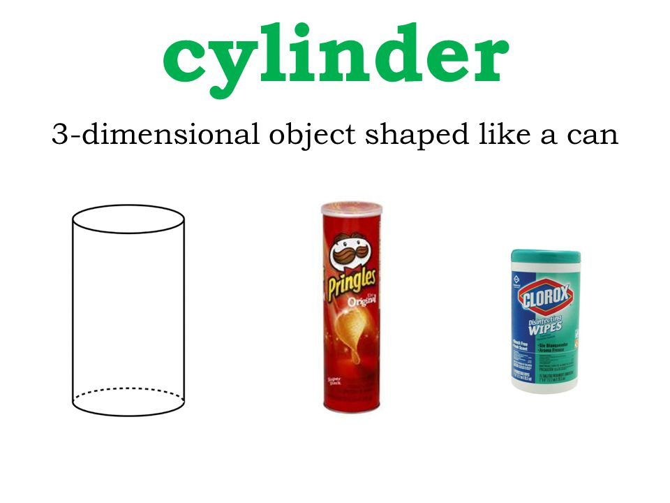 3-dimensional object shaped like a can