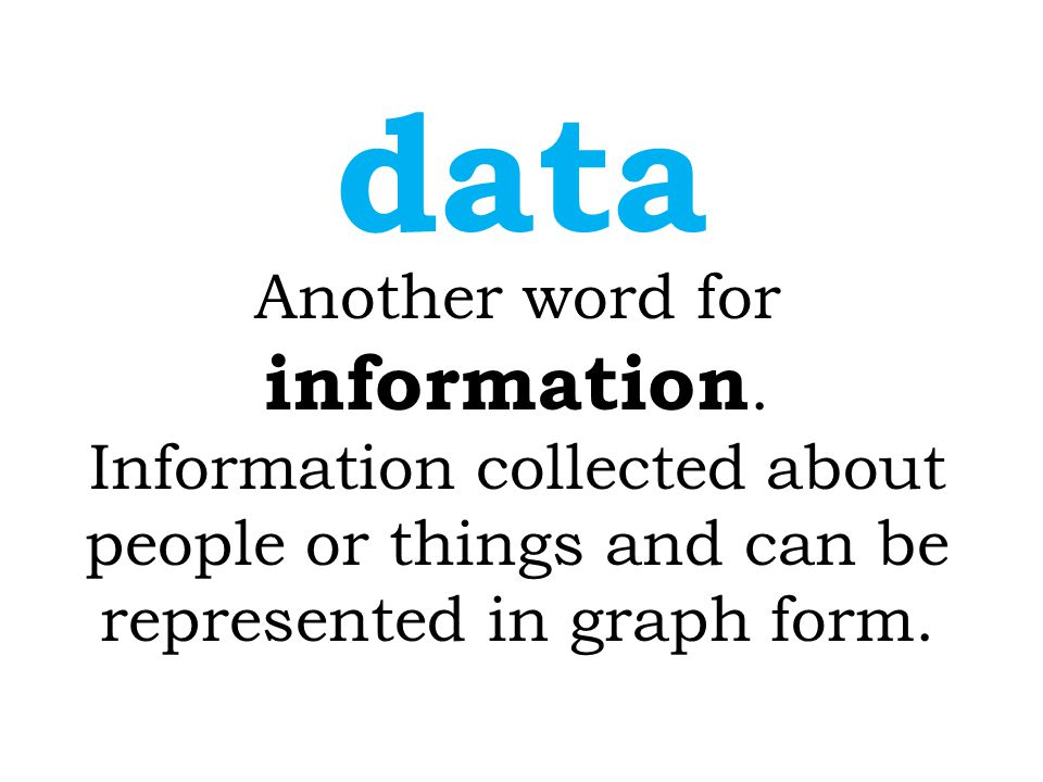Another word for information.