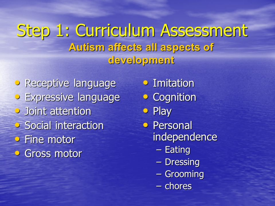 Step 1: Curriculum Assessment