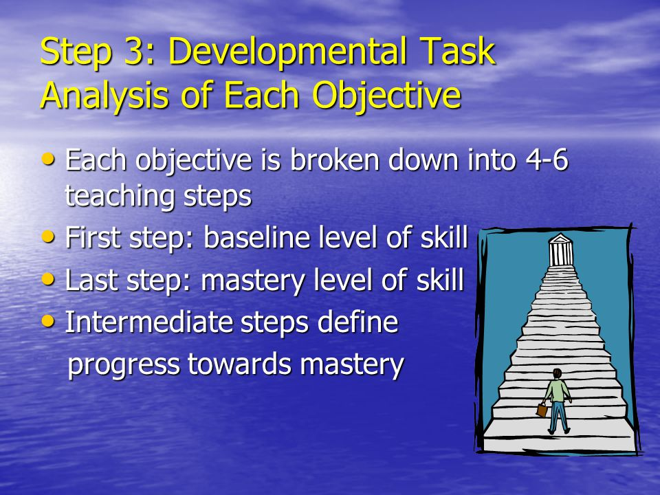 Step 3: Developmental Task Analysis of Each Objective